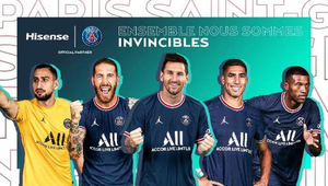 Hisense patrocinará al Paris Saint-Germain por segundo año consecutivo