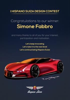 Simone Fabbro es el primer ganador del I Hispano Suiza Design