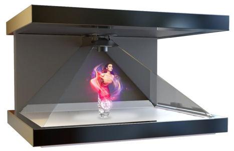 Holograma tridimensional.