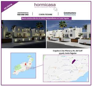 La Inmobiliaria Hormicasa comercializa una nueva promoción de 28 chalets independientes en Costa Teguise
