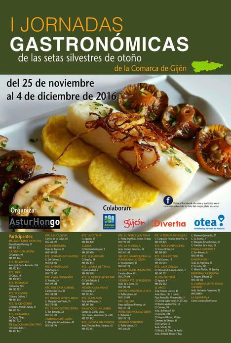 Hotel Silken Ciudad Gijón participa en las I Jornadas Gastronómicas de setas de otoño
