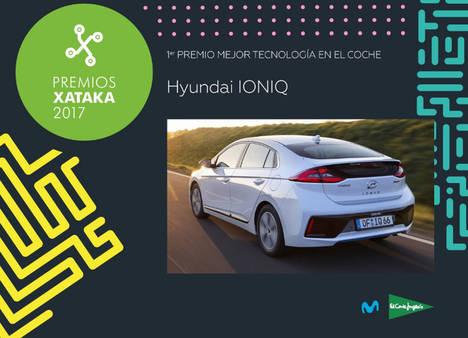Hyundai IONIQ galardonado en los Premios Xataka 2017