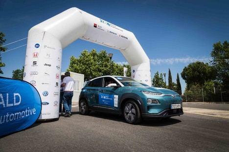 Hyundai Kona EV ganador del ALD Ecomotion Tour