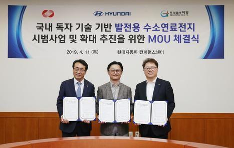 Proyecto piloto de Hyundai para generar electricidad a partir de hidrógeno
