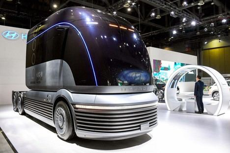 HDC-6 NEPTUNE Concept, el camión pesado de Hyundai de pila de hidrógeno