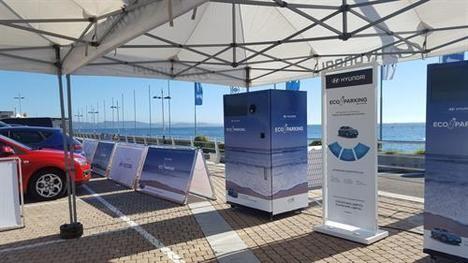 Hyundai crea el primer parking que se paga reciclando