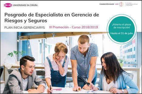 La UDC pone en marcha la tercera edición del curso de posgrado de especialista en gerencia de riesgos y seguros