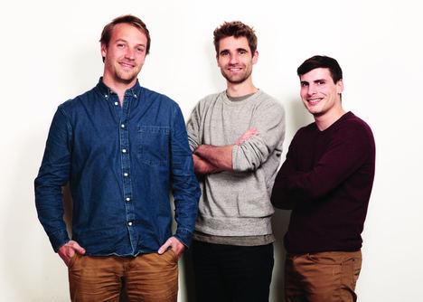 Fundadores Thibaud Hug de Larauze, Vianney Vaute y Quentin Le Brouster.