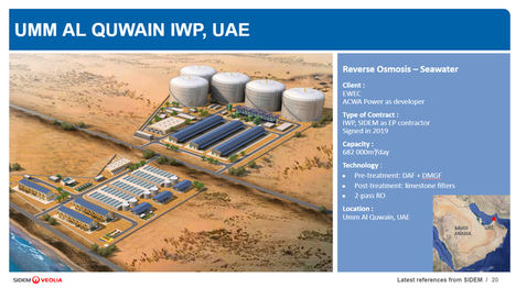 Veolia Water se adjudica el proyecto de desalación más grande de los Emiratos del Norte por 255 millones de dólares