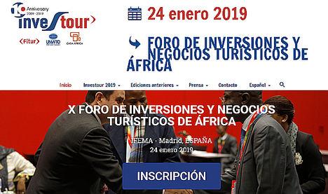 Foro de Inversiones y Negocios Turísticos en África INVESTOUR 2019