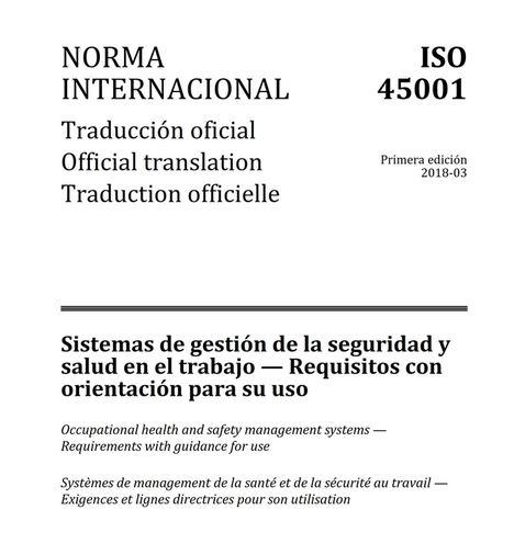 Publicada la ISO 45001