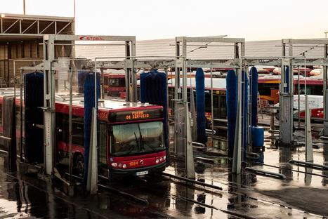 ISTOBAL ahorra más de 6.380 litros de agua cada hora en el lavado de autobuses