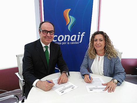 Ignacio Abati (ISTA) y Ana María Gasco (CONAIF).