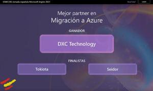 Microsoft nomina a DXC Technology como Mejor Partner de Migración a Azure en INSPIRE 2021