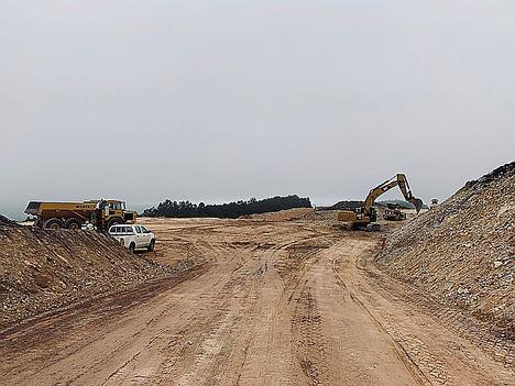 Imagen del comienzo de las obras del parque eólico.