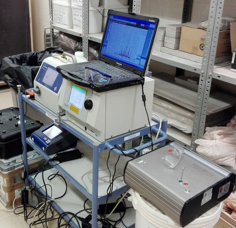 Equipo de medición laboratorio. Proyecto InOutNano.