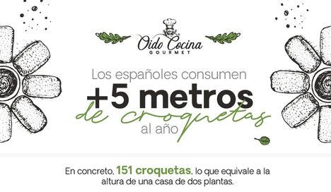 Los españoles consumen más de 5 metros de croquetas al año