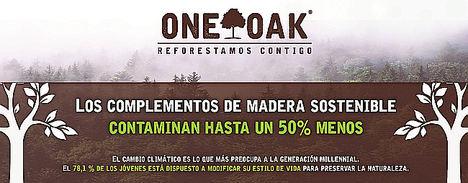 Los complementos de madera sostenible contaminan un 50% menos que los normales