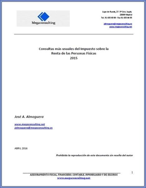Descargue gratis: Consultas más usuales del Impuesto sobre la Renta de las Personas Físicas 2015