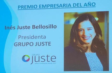 Inés Juste recibe el Premio Empresaria del Año de ASEME