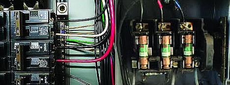 Inspección de paneles de distribución eléctrica de alto voltaje
