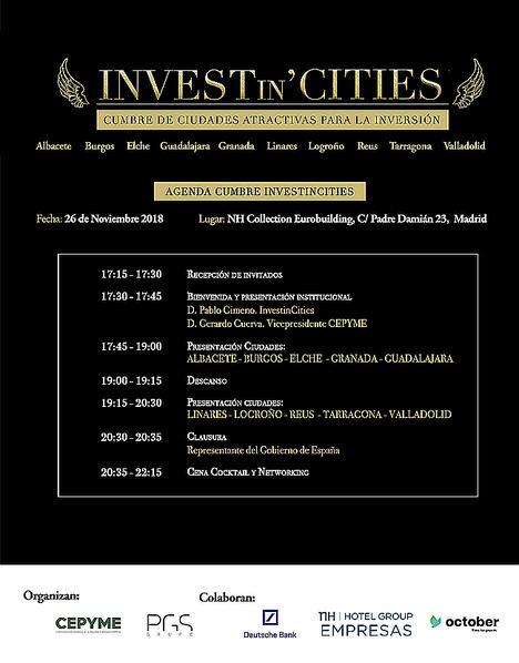 """""""Invest in Cities"""" llega este lunes a Madrid de la mano de 10 importantes ciudades españolas que presentarán sus proyectos de crecimiento"""