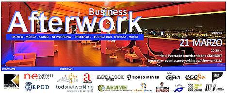 Business Afterwork, una oportunidad para ampliar las redes de contactos