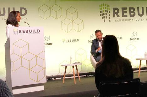 Isabel Alonso, REBUILD, en la presentación.