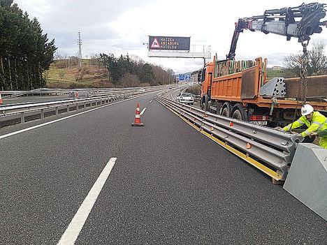 Itsak impulsa el uso de barreras de seguridad metálicas en obras de carretera