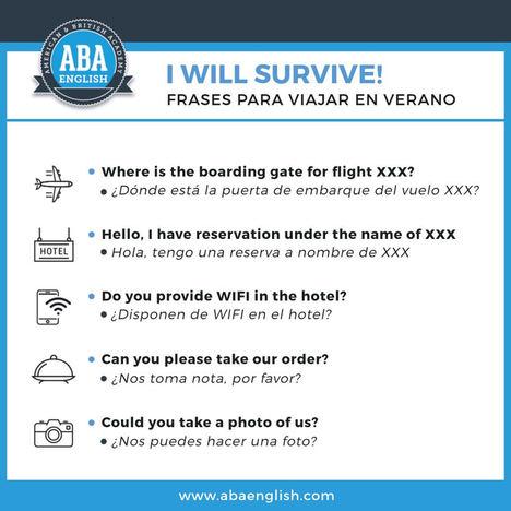 7 de cada 10 españoles aprenden frases en inglés antes de viajar al extranjero