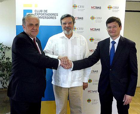 El Club de Exportadores y la Consultora Iberglobal firman un convenio con Mesías para impulsar la imagen de España en el exterior