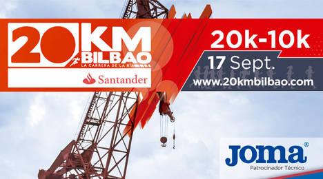 Joma se convierte en el sponsor técnico de la prueba Banco Santander 20 Km de Bilbao