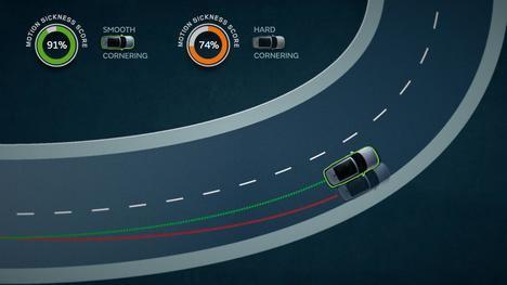 Jaguar Land Rover enseña a los vehículos autónomos a reducir el mareo