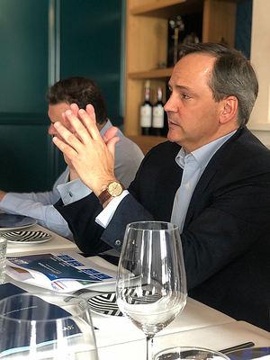 Javier Latasa, presidente de VASS, en la presentación de los resultados.