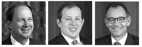 John Emerson, Vice-chairman de Capital Group International, Inc., Jared Franz, economista y Matt Miller, economista político, Capital Group.