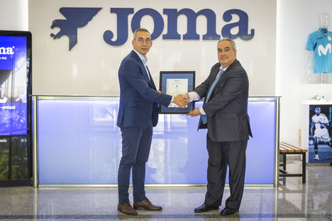 Joma Sport recibe el certificado AENOR de gestión de la calidad ISO 9001