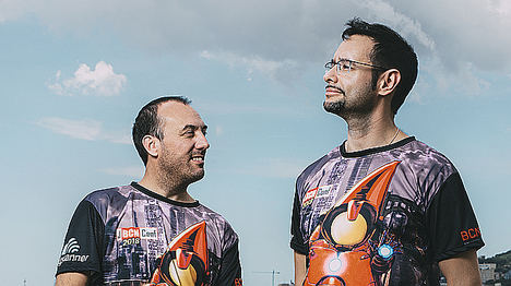 Jonathan Vila (izquierda) y Nacho Cougil (derecha), organizadores de JBCNConf.