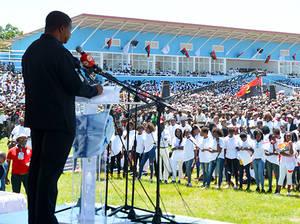 João Lourenço fue el encargado de dar el discurso en los actos de conmemoración del Día de la Paz.