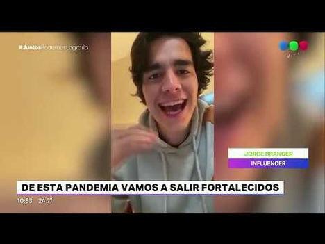 Jorge Branger en la televisión nacional de Argentina.