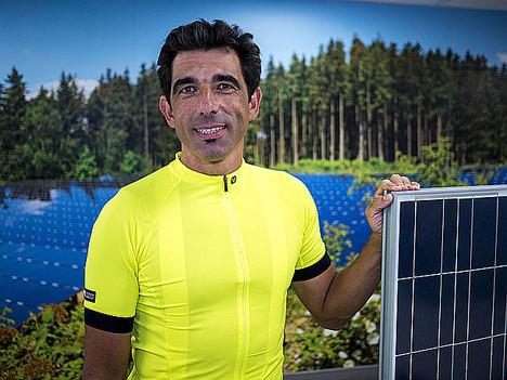 El productor fotovoltaico Jorge Puebla participará en la carrera Non Stop desde Madrid hasta Lisboa en bicicleta