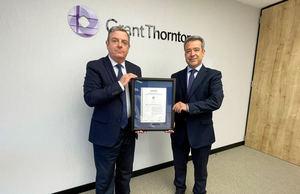 José Luis Tió, director de IT de Grant Thornton y Ángel Luis Sánchez Cerón, director región Mediterránea de AENOR.