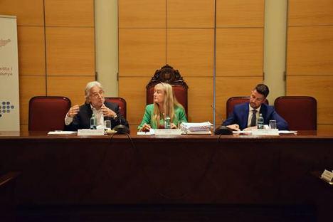 Josep Sánchez Llibre, candidato a la presidencia de Foment del Treball; Maria Helena de Felipe, presidenta de Fepime Catalunya y César Sánchez, secretario general de Fepime.