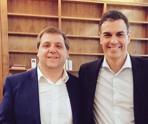 Juan Manuel Serrano y Pedro Sánchez.