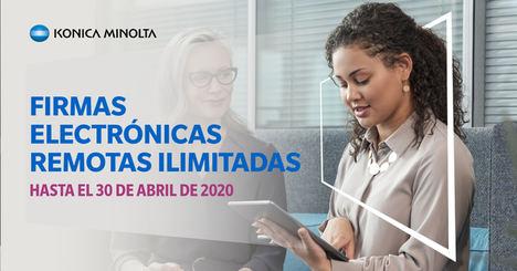 Konica Minolta lanza una campaña para facilitar la firma digital de documentos gratis hasta el 30 de abril