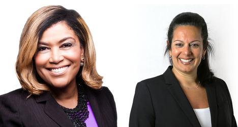 Katy Motiey, Directora de Sostenibilidad (dcha.) y Kimberley Basnight, Directora de Diversidad e Inclusión en Extreme Networks.