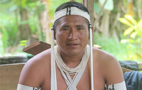 Kenampa Marubo, líder de UNIVAJA, la organización indígena del Valle del Javarí.