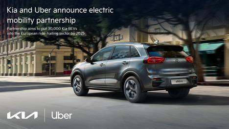 Kia Europa y Uber anuncian una asociación para la movilidad eléctrica