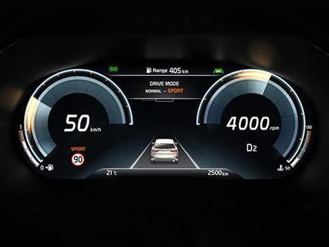 Instrumentación digital y función de división de pantalla de Kia