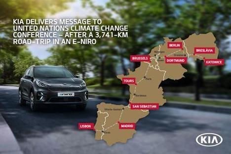 El Kia e-Niro realiza un viaje de 3.741 kms.