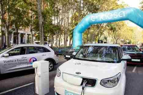El Kia eléctrico de la Vuelta a España recorre 1.000 km por 10 euros de consumo